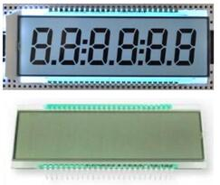 50P TN 6-Digits Segment LCD Panel White Backlight