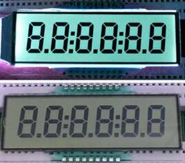 18P Positive 6-Digits Segment LCD White Backlight
