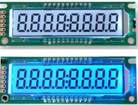 COB 8-Digits Segment LCD Module HT1621B Backlight