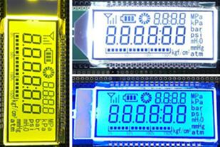 36P HTN Positive 6-Digits Segment LCD Backlight